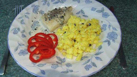 Kuller med æg og peberfrugt